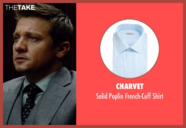 Charvet blue shirt from Mission: Impossible - Rogue Nation seen with Jeremy Renner (William Brandt)