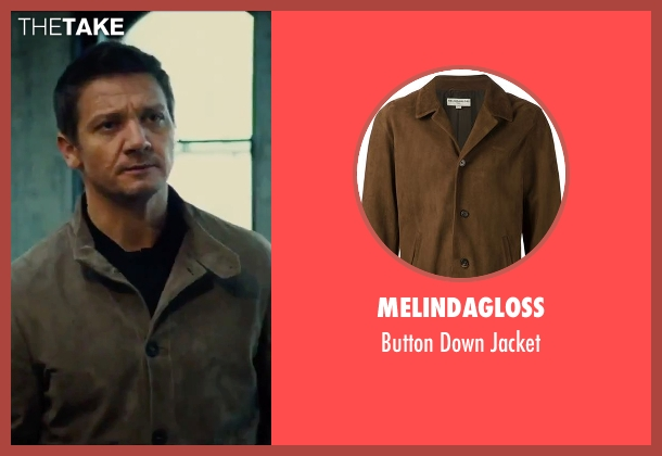 Melindagloss brown jacket from Mission: Impossible - Rogue Nation seen with Jeremy Renner (William Brandt)