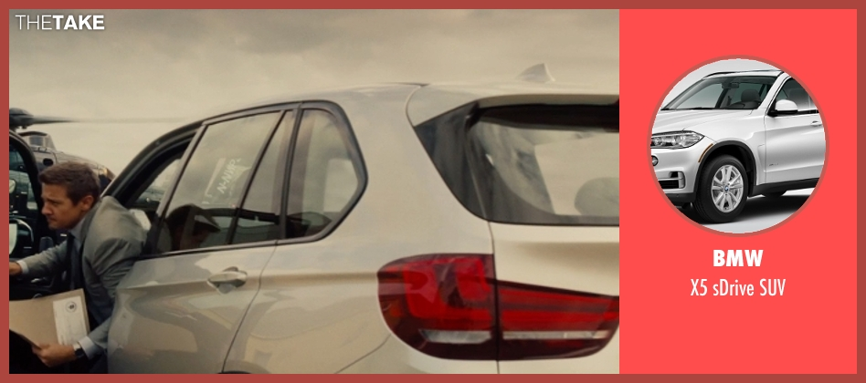 BMW suv from Mission: Impossible - Rogue Nation seen with Jeremy Renner (William Brandt)