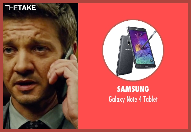 Samsung tablet from Mission: Impossible - Rogue Nation seen with Jeremy Renner (William Brandt)