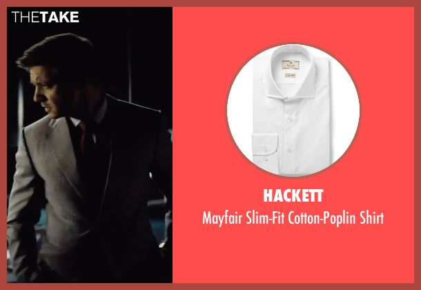 Hackett white shirt from Mission: Impossible - Rogue Nation seen with Jeremy Renner (William Brandt)