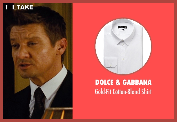 Dolce & Gabbana white shirt from Mission: Impossible - Rogue Nation seen with Jeremy Renner (William Brandt)