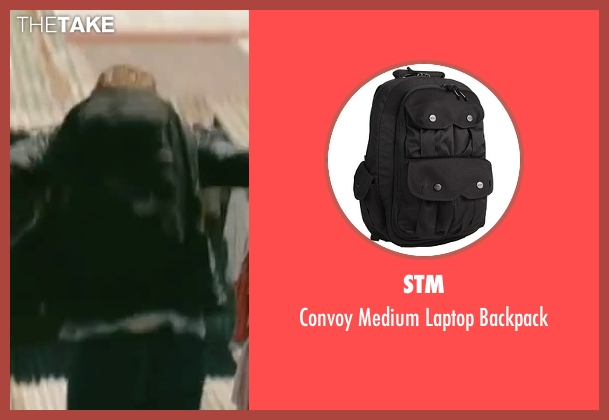 STM black backpack from The Bourne Legacy seen with Jeremy Renner (Aaron Cross)