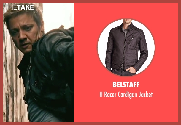 Belstaff black jacket from The Bourne Legacy seen with Jeremy Renner (Aaron Cross)