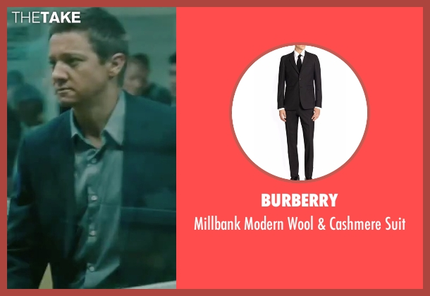 Burberry black suit from The Bourne Legacy seen with Jeremy Renner (Aaron Cross)