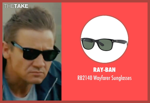 Ray-Ban black sunglasses from The Bourne Legacy seen with Jeremy Renner (Aaron Cross)