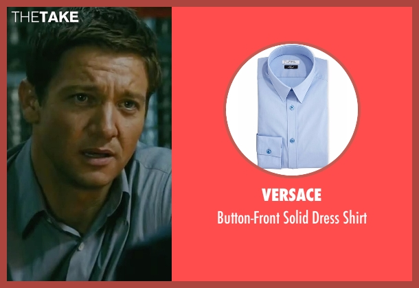 Versace blue shirt from The Bourne Legacy seen with Jeremy Renner (Aaron Cross)