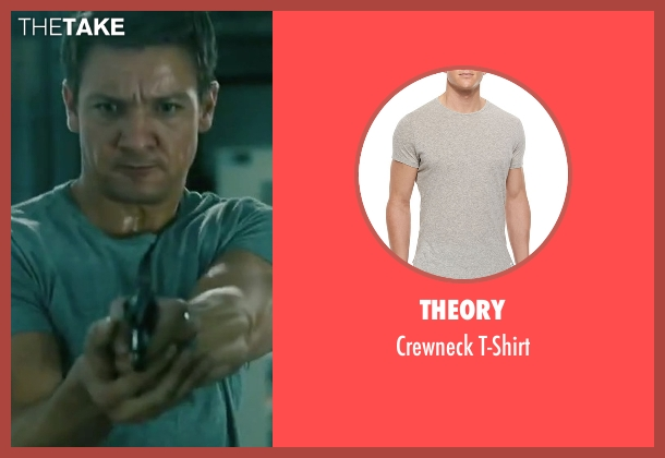 Theory gray t-shirt from The Bourne Legacy seen with Jeremy Renner (Aaron Cross)