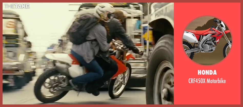 Honda motorbike from The Bourne Legacy seen with Jeremy Renner (Aaron Cross)