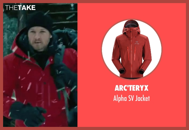 Arc'teryx red jacket from The Bourne Legacy seen with Jeremy Renner (Aaron Cross)