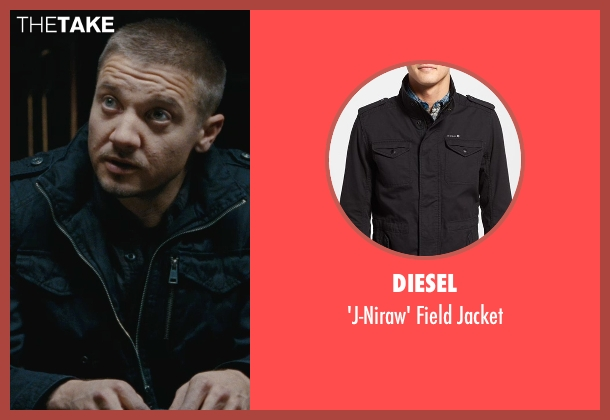 Diesel black jacket from The Town seen with Jeremy Renner (James Coughlin)