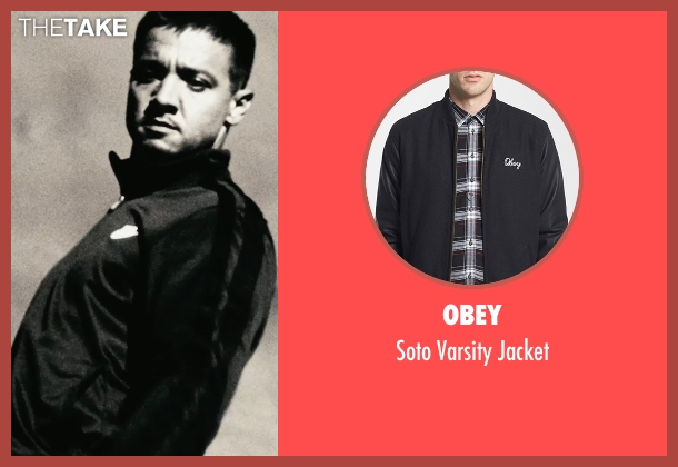 Obey black jacket from The Town seen with Jeremy Renner (James Coughlin)