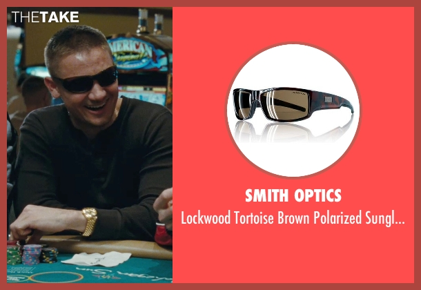 Smith Optics black sunglasses from The Town seen with Jeremy Renner (James Coughlin)