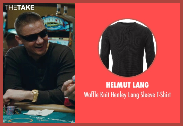 Helmut Lang black t-shirt from The Town seen with Jeremy Renner (James Coughlin)