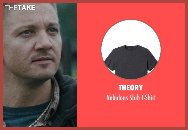 Theory black t-shirt from The Town seen with Jeremy Renner (James Coughlin)