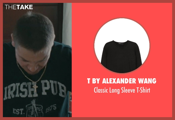 T by Alexander Wang black t-shirt from The Town seen with Jeremy Renner (James Coughlin)