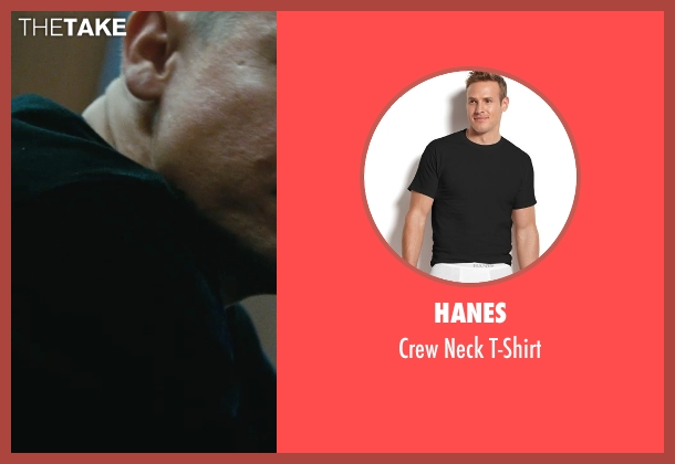 Hanes black t-shirt from The Town seen with Jeremy Renner (James Coughlin)