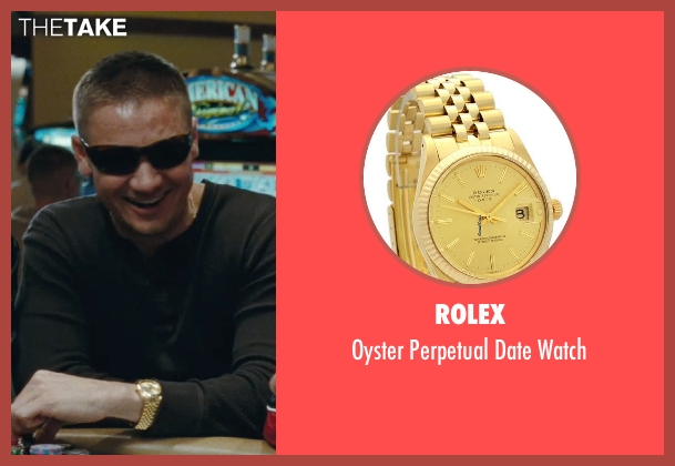 Rolex gold watch from The Town seen with Jeremy Renner (James Coughlin)