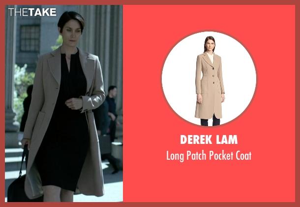 Derek Lam beige coat from Jessica Jones seen with Jeri Hogarth (Carrie-Anne Moss)