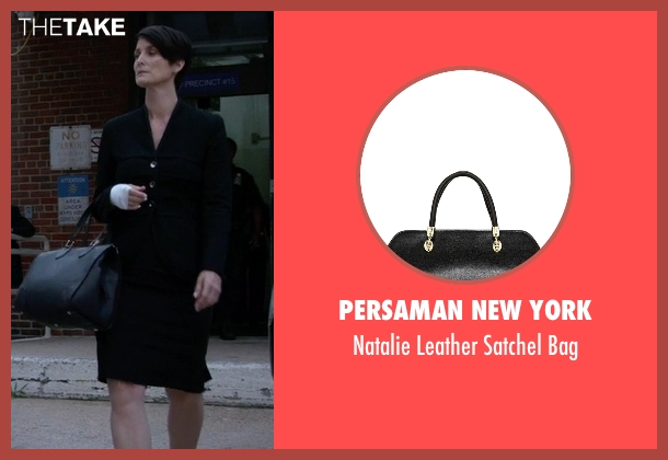 Persaman New York black bag from Jessica Jones seen with Jeri Hogarth (Carrie-Anne Moss)