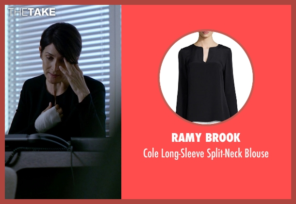 Ramy Brook	 black blouse from Jessica Jones seen with Jeri Hogarth (Carrie-Anne Moss)