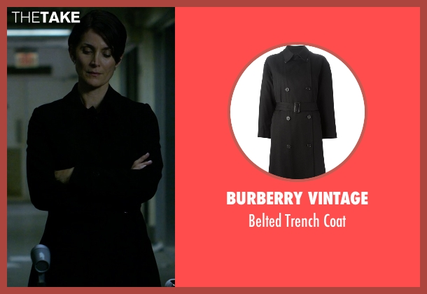 Burberry Vintage black coat from Jessica Jones seen with Jeri Hogarth (Carrie-Anne Moss)