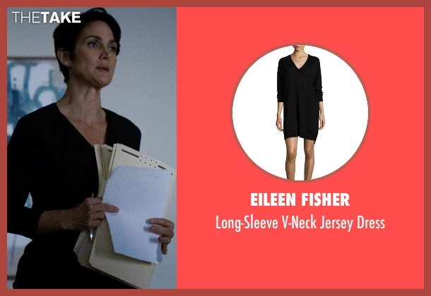 Eileen Fisher black dress from Jessica Jones seen with Jeri Hogarth (Carrie-Anne Moss)