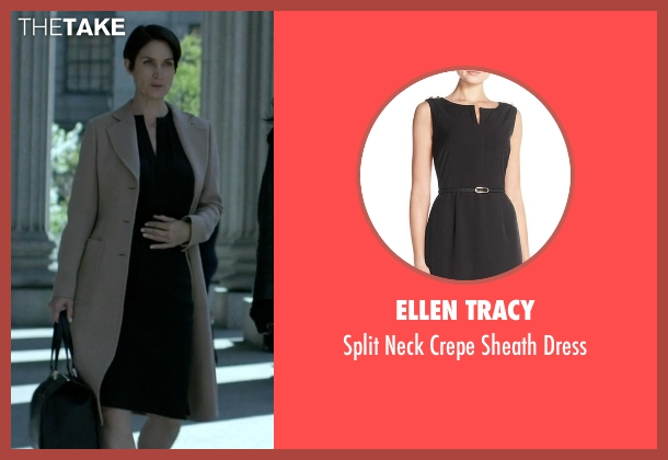 Ellen Tracy black dress from Jessica Jones seen with Jeri Hogarth (Carrie-Anne Moss)