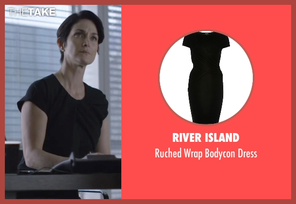 River Island black dress from Jessica Jones seen with Jeri Hogarth (Carrie-Anne Moss)