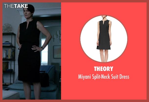 Theory black dress from Jessica Jones seen with Jeri Hogarth (Carrie-Anne Moss)