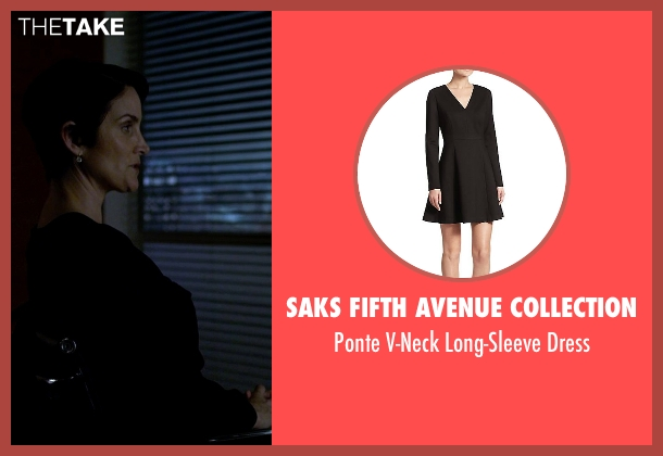 Saks Fifth Avenue Collection black dress from Jessica Jones seen with Jeri Hogarth (Carrie-Anne Moss)