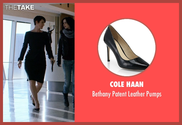 Cole Haan black pumps from Jessica Jones seen with Jeri Hogarth (Carrie-Anne Moss)