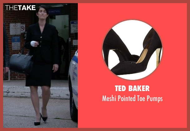 Ted Baker black pumps from Jessica Jones seen with Jeri Hogarth (Carrie-Anne Moss)
