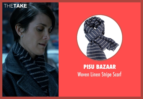 Pisu Bazaar blue scarf from Jessica Jones seen with Jeri Hogarth (Carrie-Anne Moss)