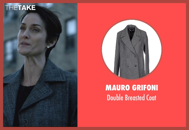 Mauro Grifoni gray coat from Jessica Jones seen with Jeri Hogarth (Carrie-Anne Moss)