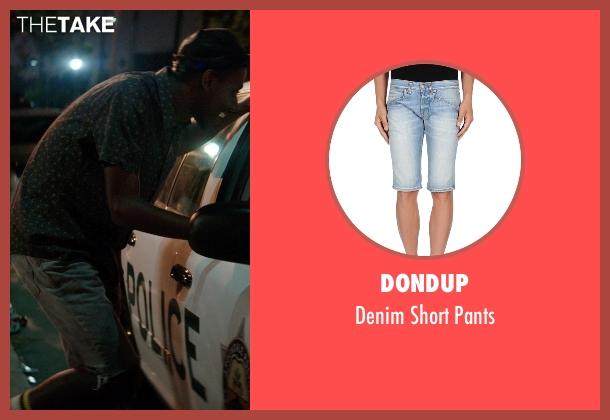 Dondup blue pants from Neighbors seen with Jerrod Carmichael (Garf)