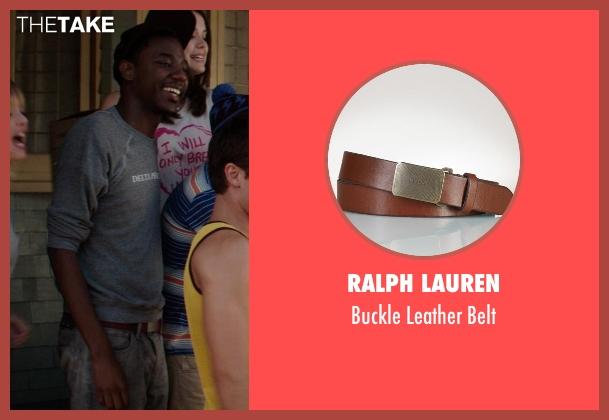 Ralph Lauren brown belt from Neighbors seen with Jerrod Carmichael (Garf)