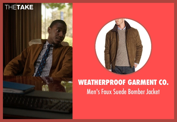 Weatherproof Garment Co. brown jacket from Neighbors seen with Jerrod Carmichael (Garf)