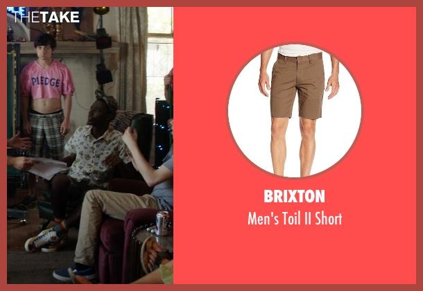 Brixton brown short from Neighbors seen with Jerrod Carmichael (Garf)