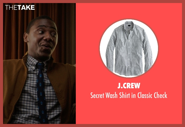 J.Crew gray check from Neighbors seen with Jerrod Carmichael (Garf)