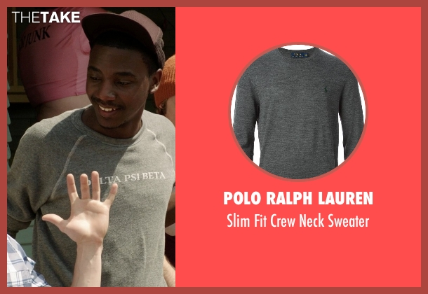 Polo Ralph Lauren gray sweater from Neighbors seen with Jerrod Carmichael (Garf)