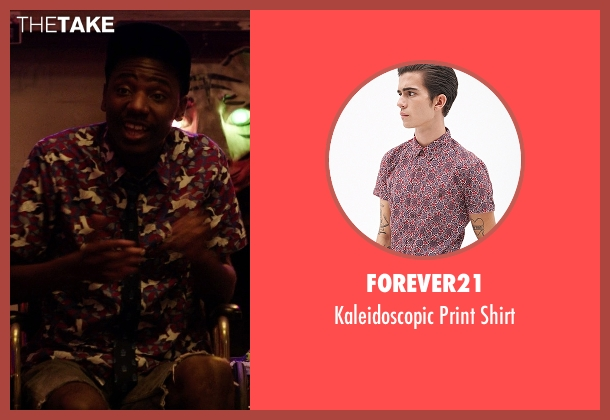 Forever21 red shirt from Neighbors seen with Jerrod Carmichael (Garf)