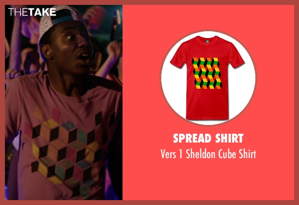Spread Shirt red shirt from Neighbors seen with Jerrod Carmichael (Garf)