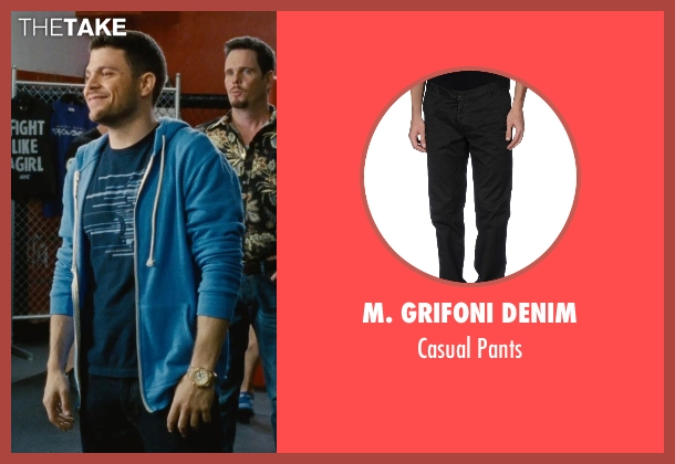 M. Grifoni Denim black pants from Entourage seen with Jerry Ferrara (Turtle)