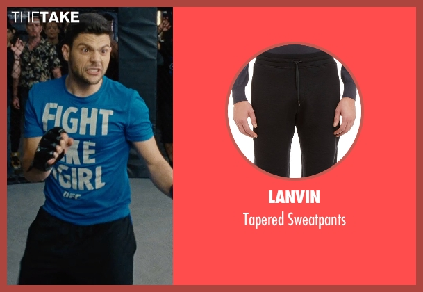 Lanvin black sweatpants from Entourage seen with Jerry Ferrara (Turtle)