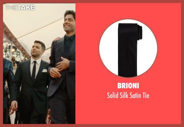 Brioni black tie from Entourage seen with Jerry Ferrara (Turtle)