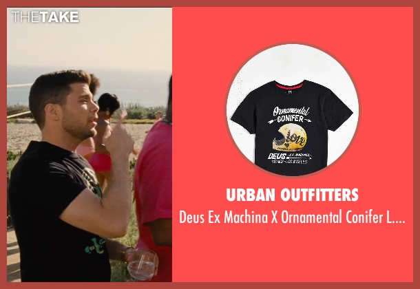 Urban Outfitters black t-shirt from Entourage seen with Jerry Ferrara (Turtle)