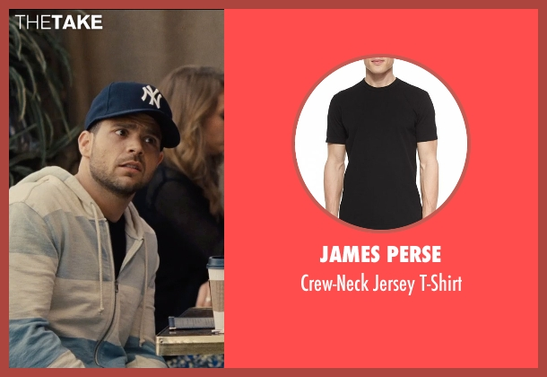 James Perse black t-shirt from Entourage seen with Jerry Ferrara (Turtle)