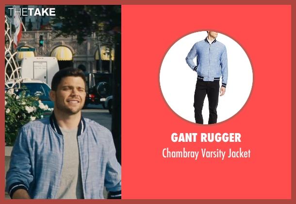 Gant Rugger blue jacket from Entourage seen with Jerry Ferrara (Turtle)