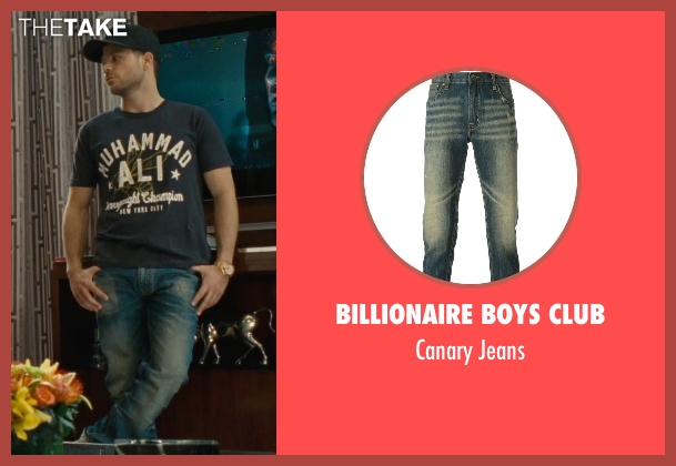 Billionaire Boys Club blue jeans from Entourage seen with Jerry Ferrara (Turtle)